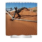 Coral Pink Sand Waves Shower Curtain