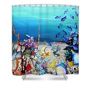 Coral Reef Blues  Shower Curtain