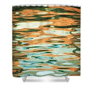 Coral Waves Shower Curtain