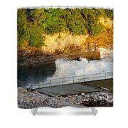 Coralville Dam At Capacity Shower Curtain