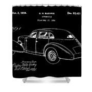 Cord Automobile Patent 1934 - Black Shower Curtain