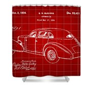 Cord Automobile Patent 1934 - Red Shower Curtain