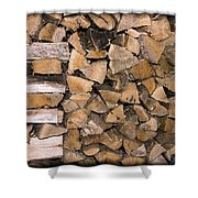 Cord Wood Shower Curtain