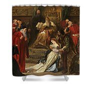 Cordelia In The Court Of King Lear, 1873 Shower Curtain