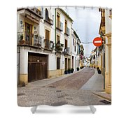 Cordoba Old Town Houses Shower Curtain