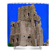 Corfe Castle Ruins Shower Curtain