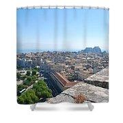 Corfu City Shower Curtain