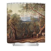 Corfu From Santa Decca Shower Curtain