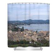 Corfu.new Port Shower Curtain