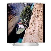 Corinth Canal Poster Shower Curtain