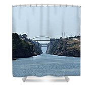 Corinth Canal Shower Curtain