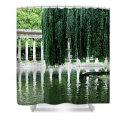 Corinthian Colonnade And Pond Shower Curtain