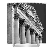 Corinthian Columns Bw Shower Curtain