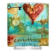 1 Corinthians 13 Shower Curtain