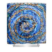 Coriolis 4 Shower Curtain by Regina Valluzzi