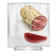 Cork With Red Wine Shower Curtain