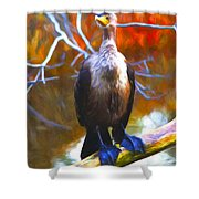 Cormorant Reds Shower Curtain