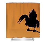 Cormorant Silhouette Shower Curtain