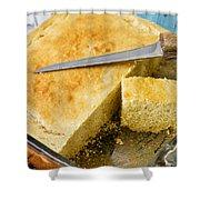 Corn Bread Shower Curtain