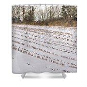 Corn Code Shower Curtain