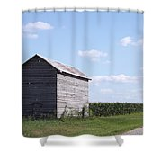 Corn Crib Shower Curtain