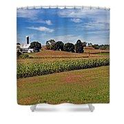Corn Farmer Shower Curtain