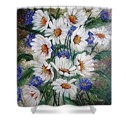 Corn Flowers Shower Curtain