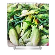 Corn For Sale Shower Curtain