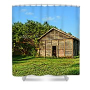 Corncrib In Afternoon Light Shower Curtain