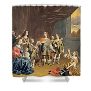 Cornelia And Her Jewels Oil On Canvas Shower Curtain