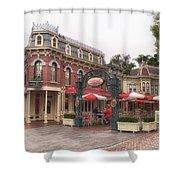 Corner Cafe Main Street Disneyland 02 Shower Curtain
