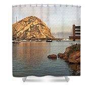 Corner Harbor Shower Curtain