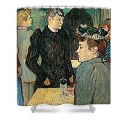 Corner Of Moulin De La Galette Shower Curtain by Henri de Toulouse Lautrec