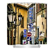 Corner Of Pensione And Bar Shower Curtain