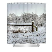 Corner Post Ice And Snow Shower Curtain