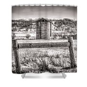 Corner Posts And Silo Shower Curtain