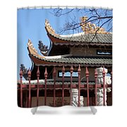 Corners Of A Temple In Grand Prairie Texas Shower Curtain