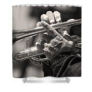 Cornet In Sepia Shower Curtain