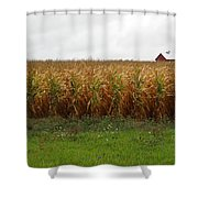 Cornfield And Farmhouse Shower Curtain
