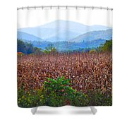 Cornfield In The Mountains Shower Curtain