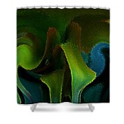Cornflower Glass Managerie Shower Curtain