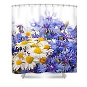 Cornflower And Chamomile Bunch Blooms  Shower Curtain