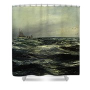 Cornish Sea And Working Boat Shower Curtain