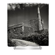 Cornish Tin Mine. Shower Curtain