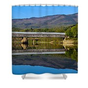 Cornish Windsor Covered Bridge Shower Curtain by Edward Fielding