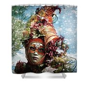 Cornucopia Shower Curtain by Barbara Orenya
