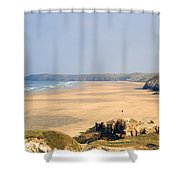 Cornwall - Ligger Bay Shower Curtain