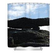 Cornwall Balancing Boulder Shower Curtain