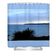 Cornwall Coast Subdued Sunset Shower Curtain