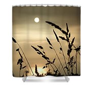 Cornwall Misty Sunset One Shower Curtain